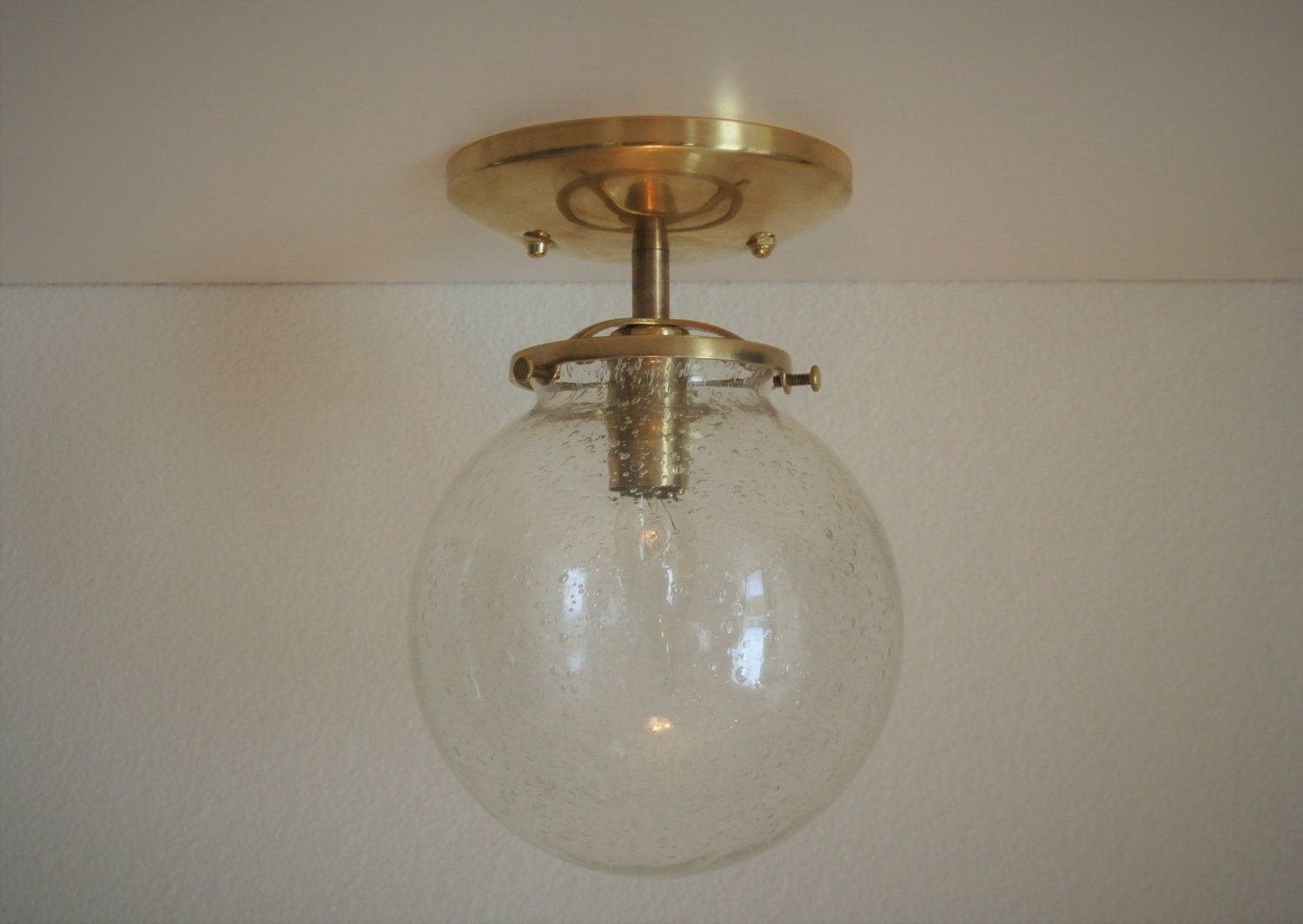 Clear Seeded Gl Globe Br Flush Mount Ceiling Light View More On The Link Http Www Zeppy Io Product Gb 3 263118481