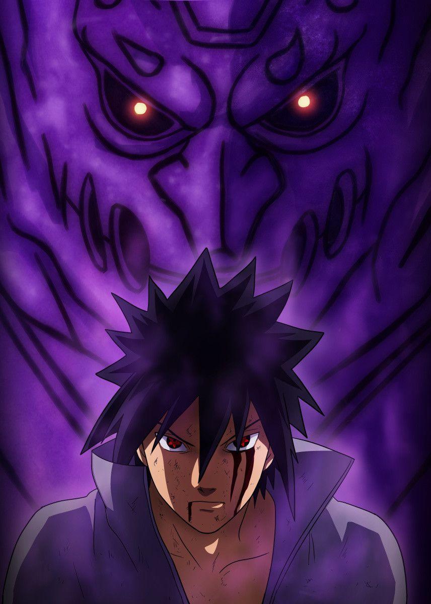 Purple Energy Monster Poster By Mcashe Art Displate Sasuke Uchiha Shippuden Sasuke Uchiha Sharingan Naruto