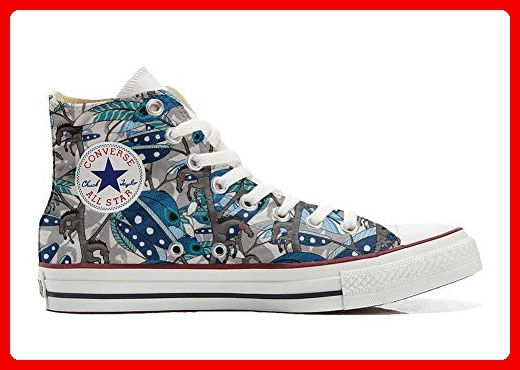 Make Your Shoes Converse Customized Adulte - chaussures coutume (produit artisanal) Horse Feathers size 35 EU Evy2wm