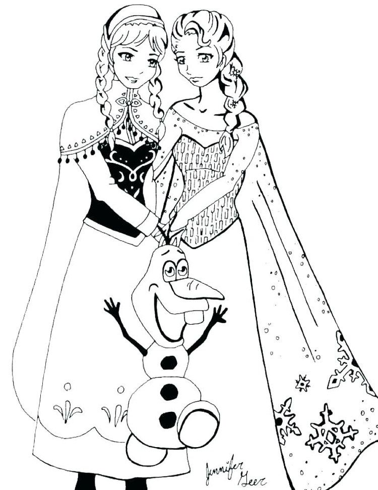Free Elsa Coloring Pages Printable in 2020 Elsa coloring