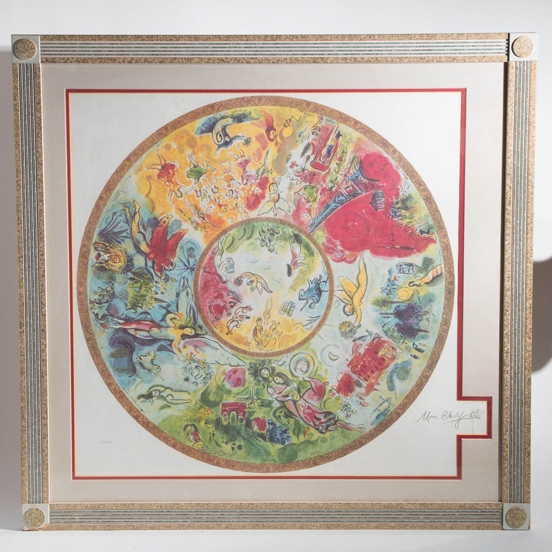 Marc Chagall Paris Opera Ceiling Numbered Lithograph