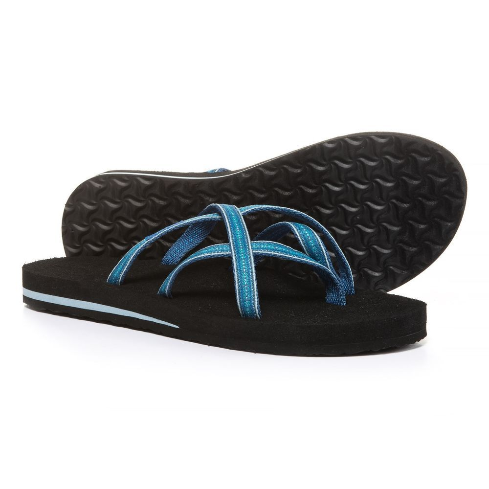93d69fbe0419e9 TEVA OLOWAHU MUSH PINTADO BLUE BLACK FLIP FLOPS SANDALS NEW - SIZE 8   fashion  clothing  shoes  accessories  womensshoes  sandals (ebay link)