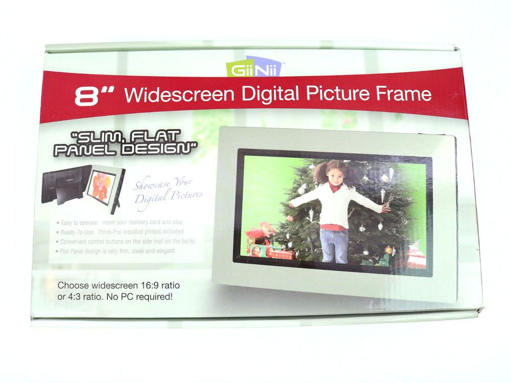 Giinii 8 Digital Photo Frame Picture Widescreen Auto Rotate 4 Gb