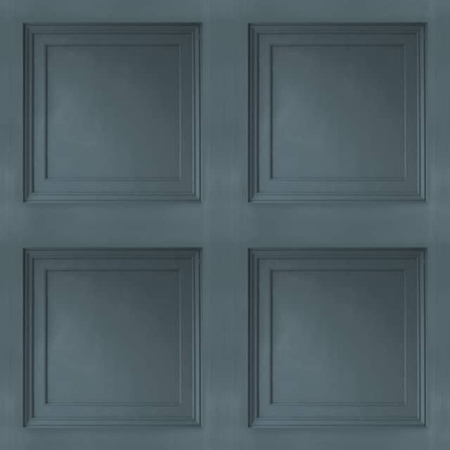 Blue Wainscoting: Contemporary 3D Faux Paneling Architectural Navy Blue
