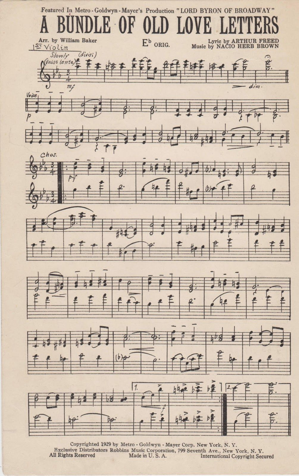 image regarding Free Printable Broadway Sheet Music titled Developing A Existence: Appreciate Letter Observe Box and No cost Printable