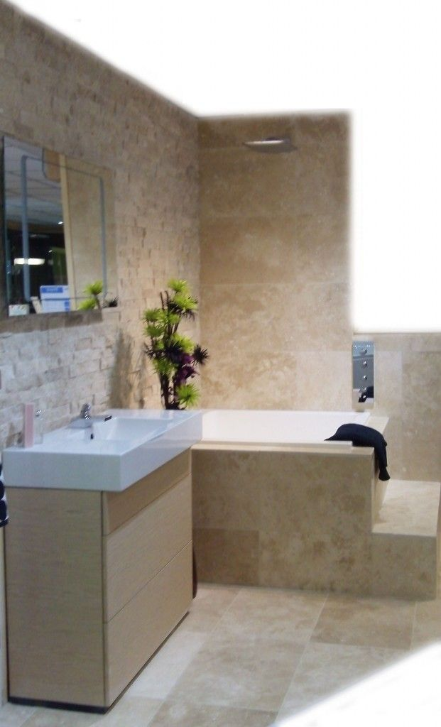 Split Face and Honed Travertine Bathroom ideas Pinterest