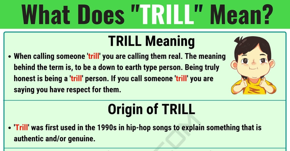 TRILL Meaning: What Does TRILL Mean? with Useful Examples