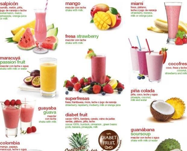 Carta De Batidos Con Imagenes Bebidas De Frutas Jugos