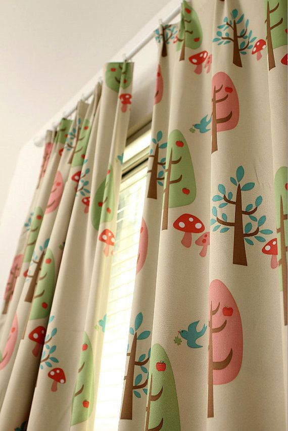 Beige Color Two Custom Curtain Panels Triple By Hereisthe