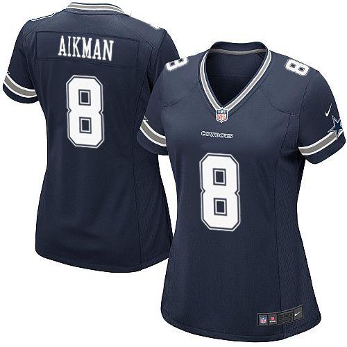 c897eac838c Womens Nike Dallas Cowboys #8 Troy Aikman Elite Navy Blue Team Color NFL  Jersey