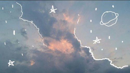 sky, stars, and clouds image | Diy | Aesthetic desktop ...