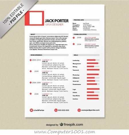 Resume Template Download Free Creative Resume Template Download Free  Tempat Untuk Dikunjungi