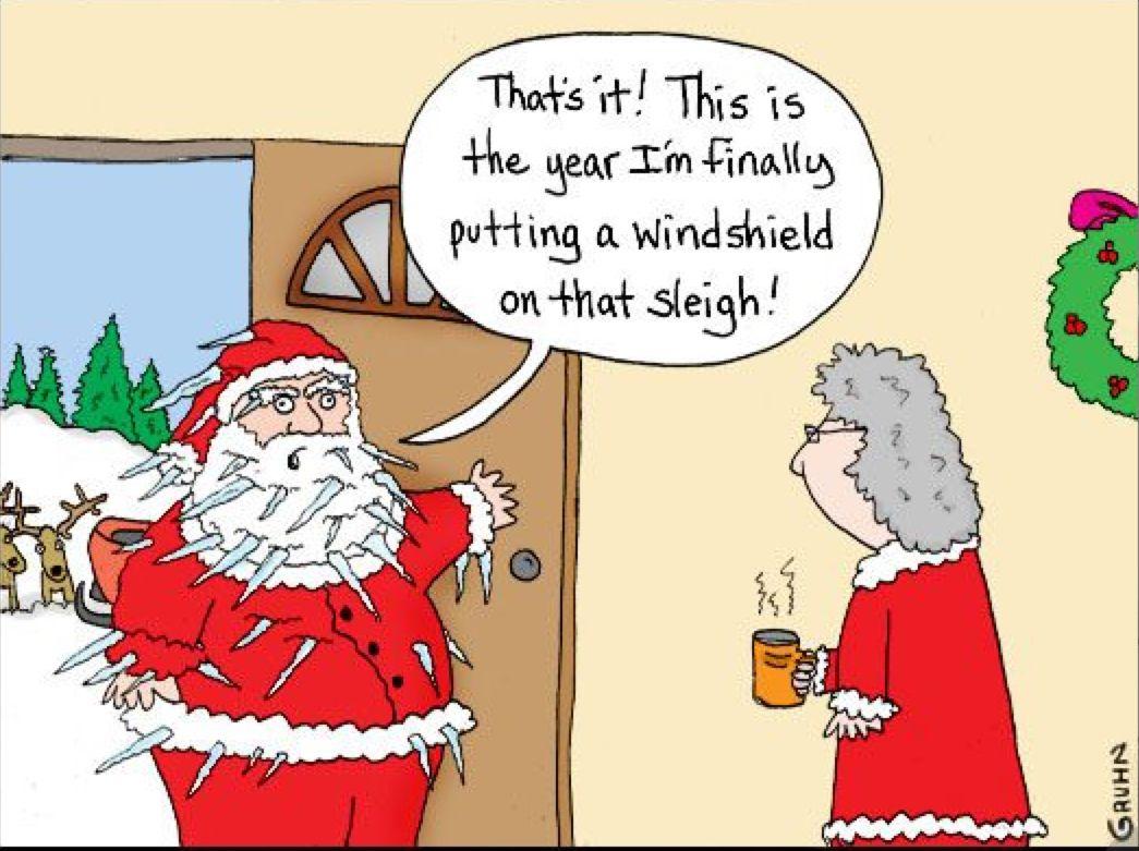 Santa S Bright Idea T Christmas Humor Christmas Comics Cartoon Christmas Cards