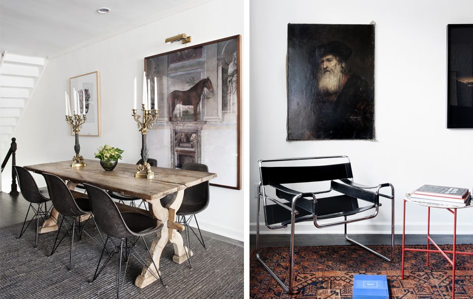 Links: Eames DSR Rechts Marcel Breuer - Wassily Chair  Ausgefallener, dominanter Stuhl aus Leder:  https://modecor.com/Marcel-Breuer-Wassily-Chair-in-Schwarz