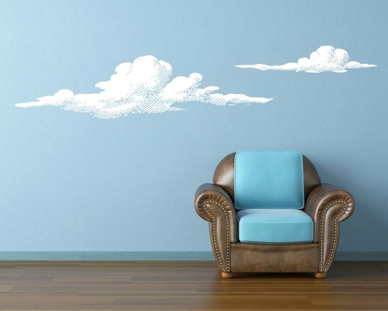 Delightful Wall Decal Clouds Nature Sky Cloudy Weather Atmosphere. $65.00, Via Etsy. Part 4