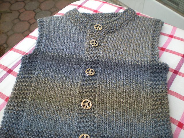 Knitted Baby Vest Patterns Free : Ravelry: Project Gallery for Quick-Knit Vest pattern by Doreen L. Marquart ...
