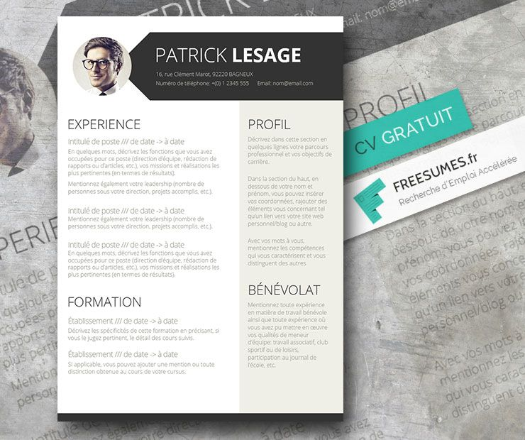 Resume Template Et Lettre D Accompagnement References Etsy In 2020