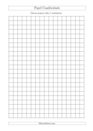 Papel Cuadriculado De Lineas Negras Cada 1cm Tamano De Papel A4