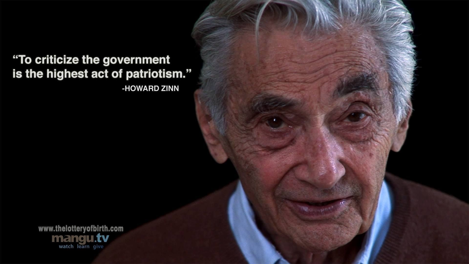 Creating Freedom Question Everything Howard Zinn Documentaries Essays