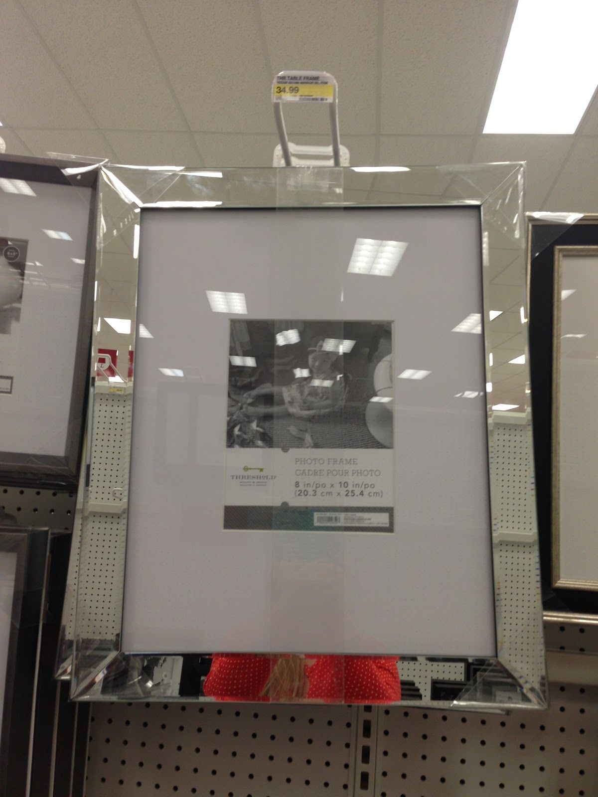 mirrored picture frame from target cluster 6 or 8 on a black wall see blog - Mirrored Frame