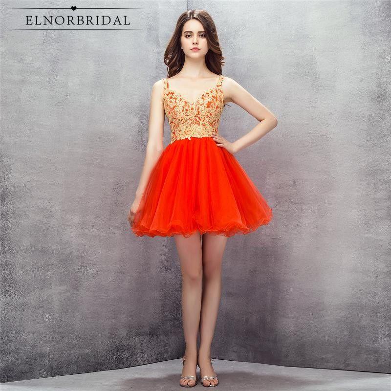 727dd2c45e3 Modest Short Prom Dresses 2017 Vestido De Festa Curto Lace Tulle A Line Open  Back Formal
