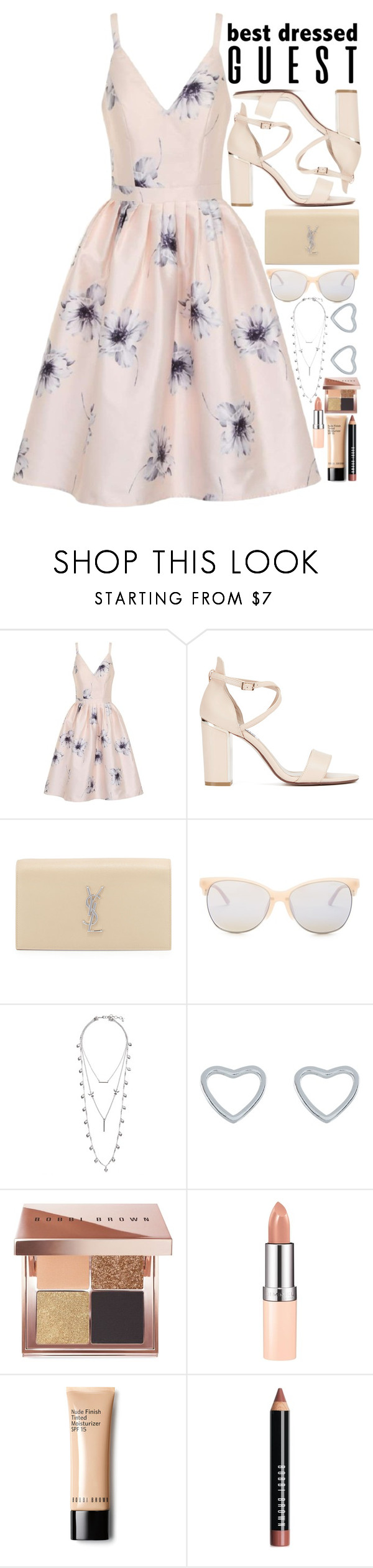 """""""Barn Wedding"""" by anotherfashionfatale ❤ liked on Polyvore featuring Chi Chi, Yves Saint Laurent, Smith Optics, Lucky Brand, New Look, Bobbi Brown Cosmetics and Rimmel"""