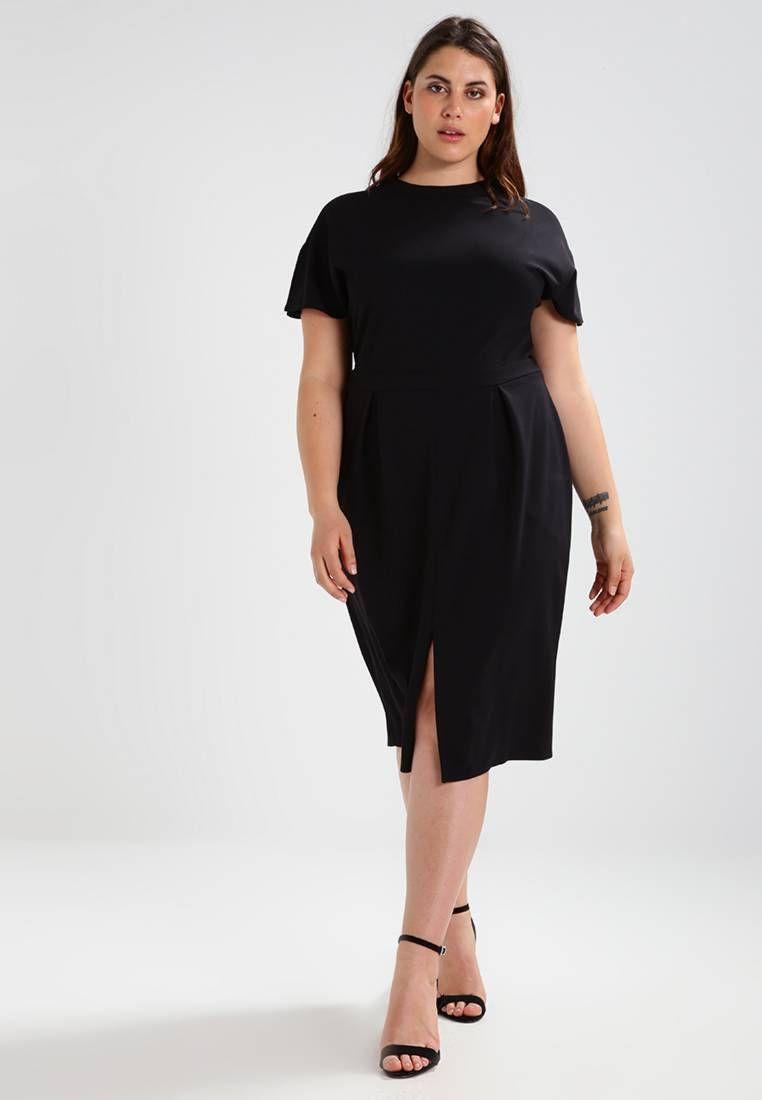 dorothy perkins curve. jerseykleid - black . verschluss