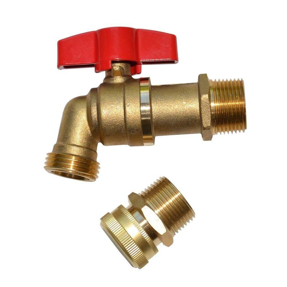 Earthminded Brass Spigot And Drain Upgrade Kit Brs 0001 The Home Depot Rain Barrel Water Barrel Rain Water Barrel