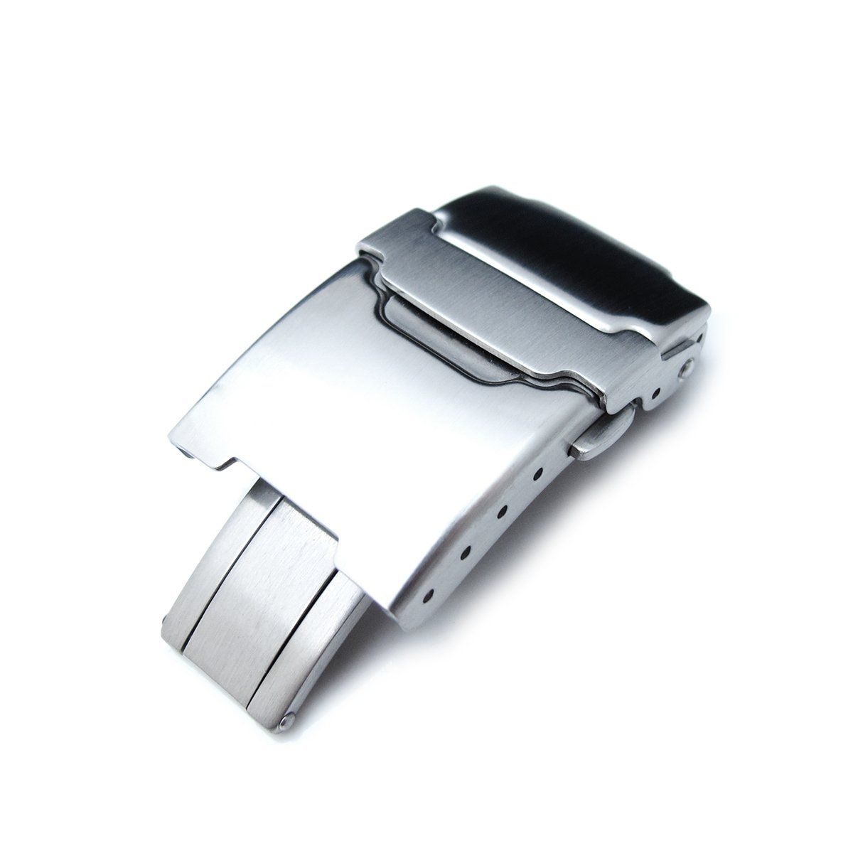 20mm brushed stainless steel push button diver clasp for