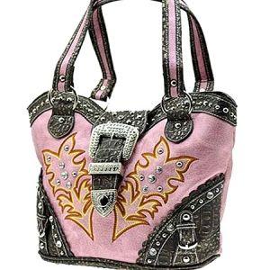 women's western bling purses | Rhinestone Western Cowgirl Bucket Hobo Purse PK