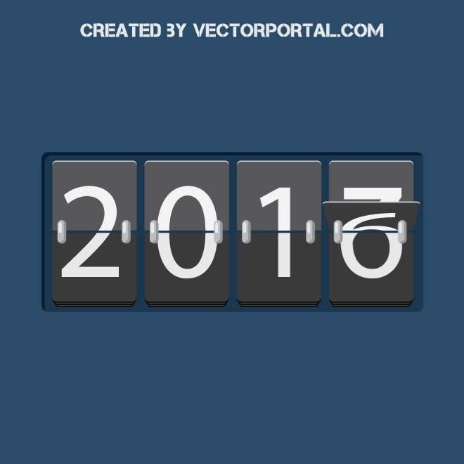 New Year counter 2017 vector image