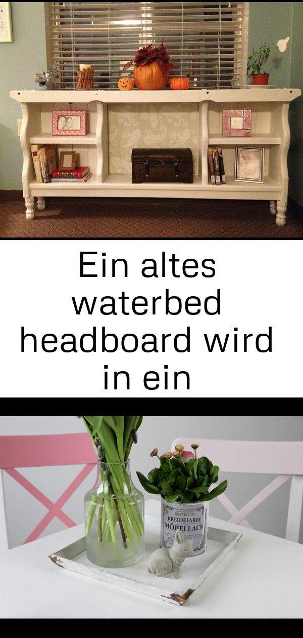 Ein altes waterbed headboard wird in ein bücherregal eingeschaltet  dies ist so eine nette idee 27 EIN ALTES WATERBED HEADBOARD WIRD IN EIN BÜCHERREGAL EINGESCH...