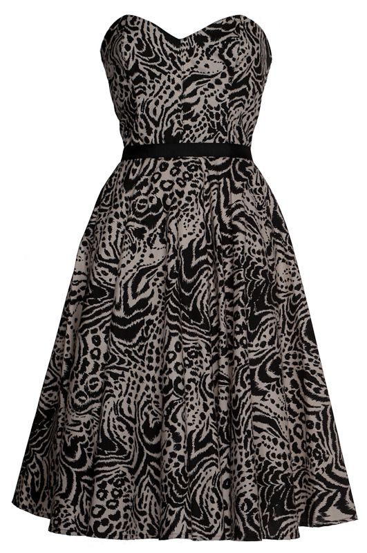 50s Style Rockabilly Full Circle Dress by Style Icon's Closet 50s style Vintage Inspired Pin-Up African Print Retro Rockabilly Clothing