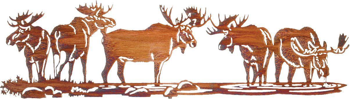 Moose Scene Over The Door Metal Wall Art Art Metal Wall Art Wall Art