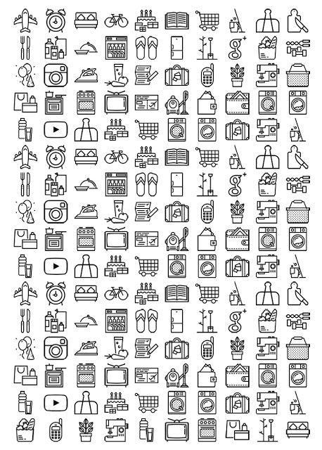 black and white planner icon sticker