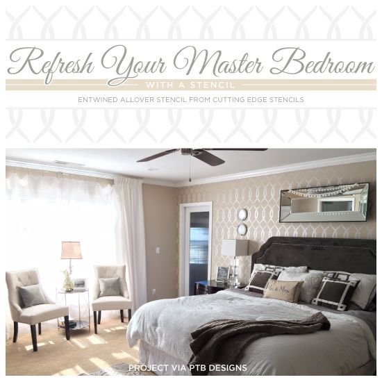 Wall Decor Bedroom Ideas Alluring Cutting Edge Stencils Shares A Diy Stenciled Bedroom Using The Decorating Inspiration