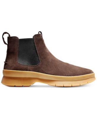 ca53836577d Cole Haan Men s Pinch Utility Waterproof Chelsea Boots - Brown 9 ...