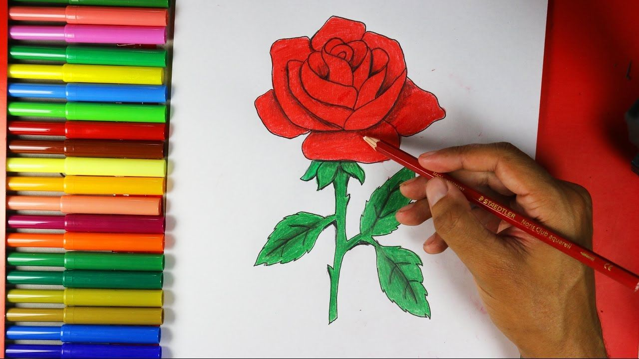 How To Draw A Rose Easy Youtube Flower Drawing Roses Drawing Flower Drawing Tutorials