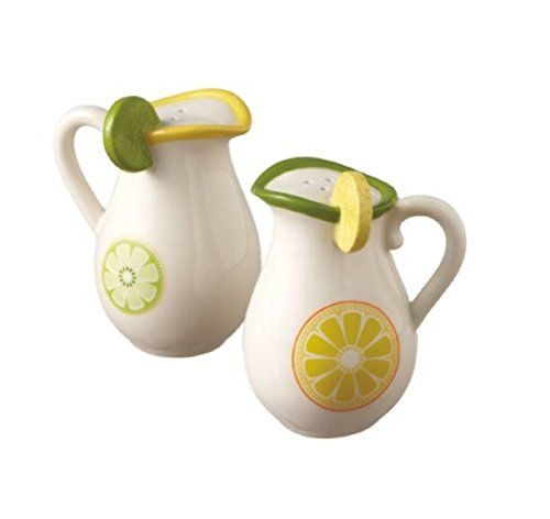 Citrus Lemon and Lime Pitcher Salt and Pepper Shakers Midwest