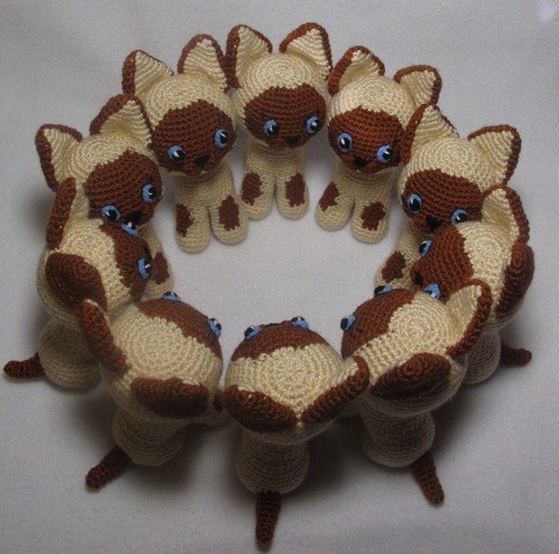PATTERN BUNDLE: Crochet Kitty Cat Patterns! Amigurumi Kitty ... | 787x794