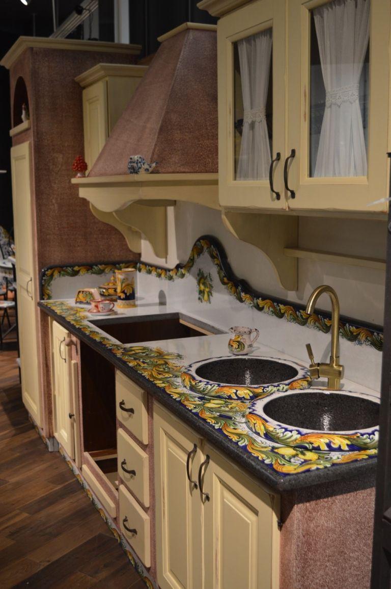 Cucine In Pietra Lavica. In Pietra Lavica Decoro Limoni Top In ...