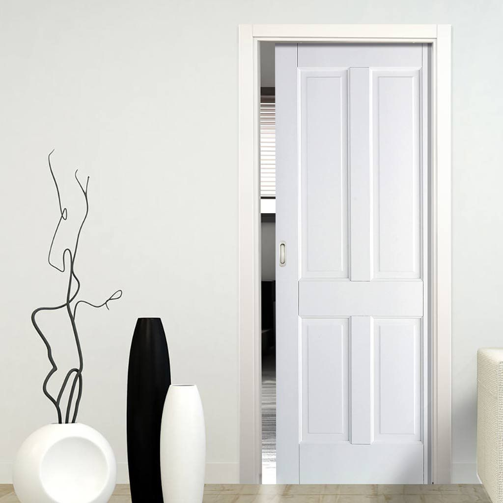 Canterbury White Single Pocket Door  sc 1 st  Pinterest & Canterbury White Single Pocket Door | Sliding door systems ...