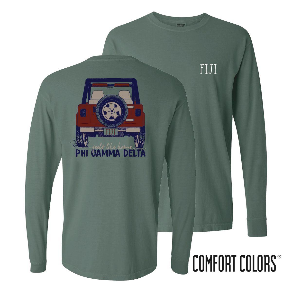 a47af7e2 New! FIJI Comfort Colors Jeep Long Sleeve Tee | Phi Gamma Delta ...