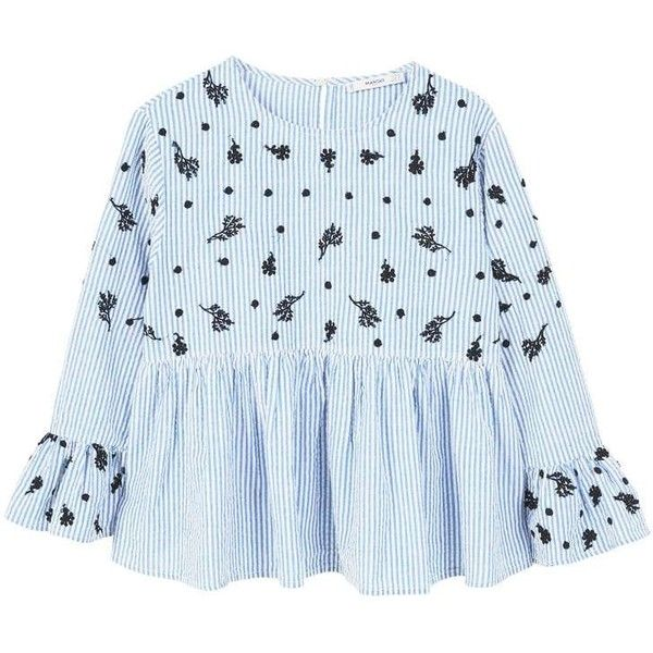 MANGO Striped embroidery blouse Largest Supplier Q0yTlA