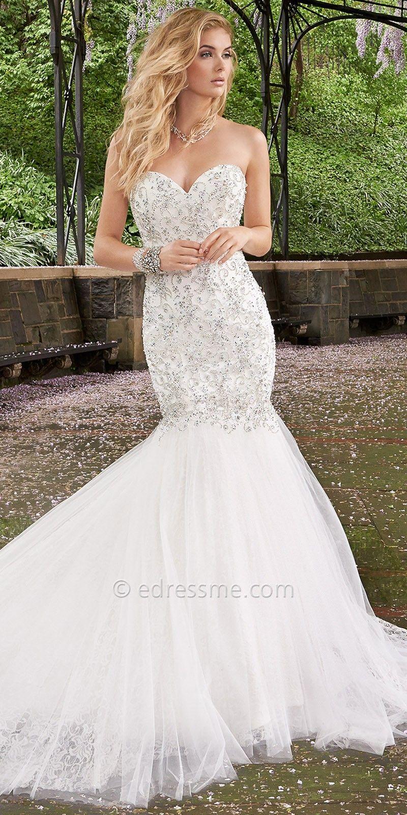 Rhinestone Drop Waist Wedding Dresses by Camille La Vie | Weddings ...