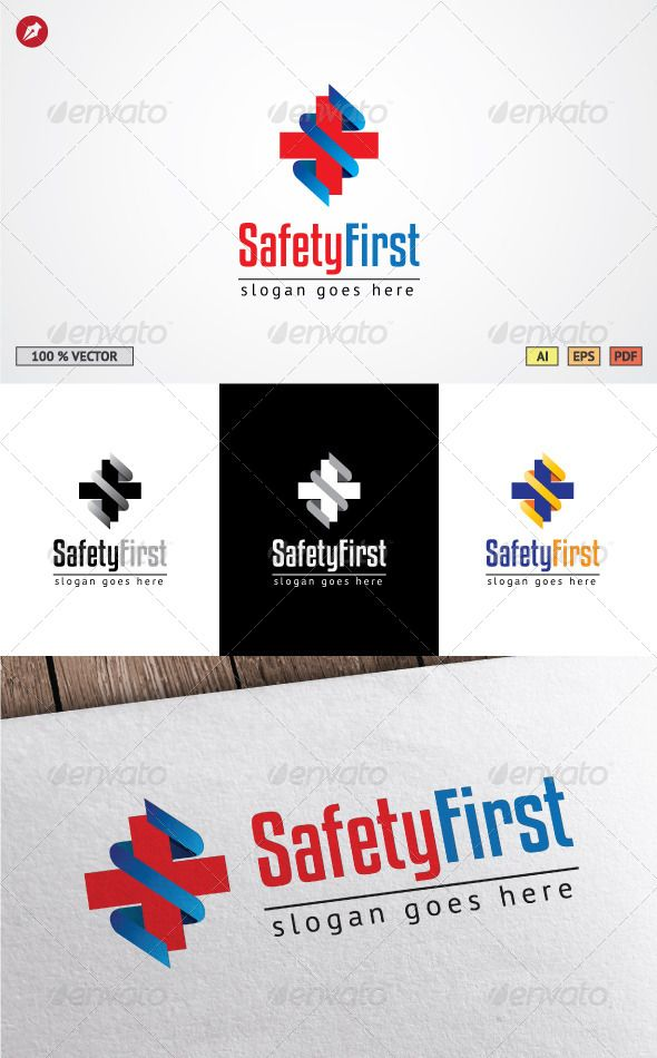 Safety First Logo Template  Logo Templates Safety And Template