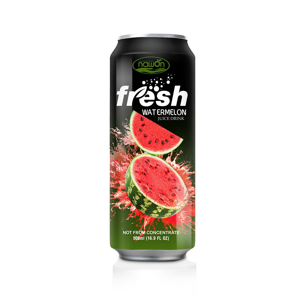 16 9 Fl Oz Nawon Canned Fresh Watermelon Juice Drink Nawon Beverage Supplier Manufacturer In 2020 Watermelon Juice Orange Juice Drinks Juice Drinks