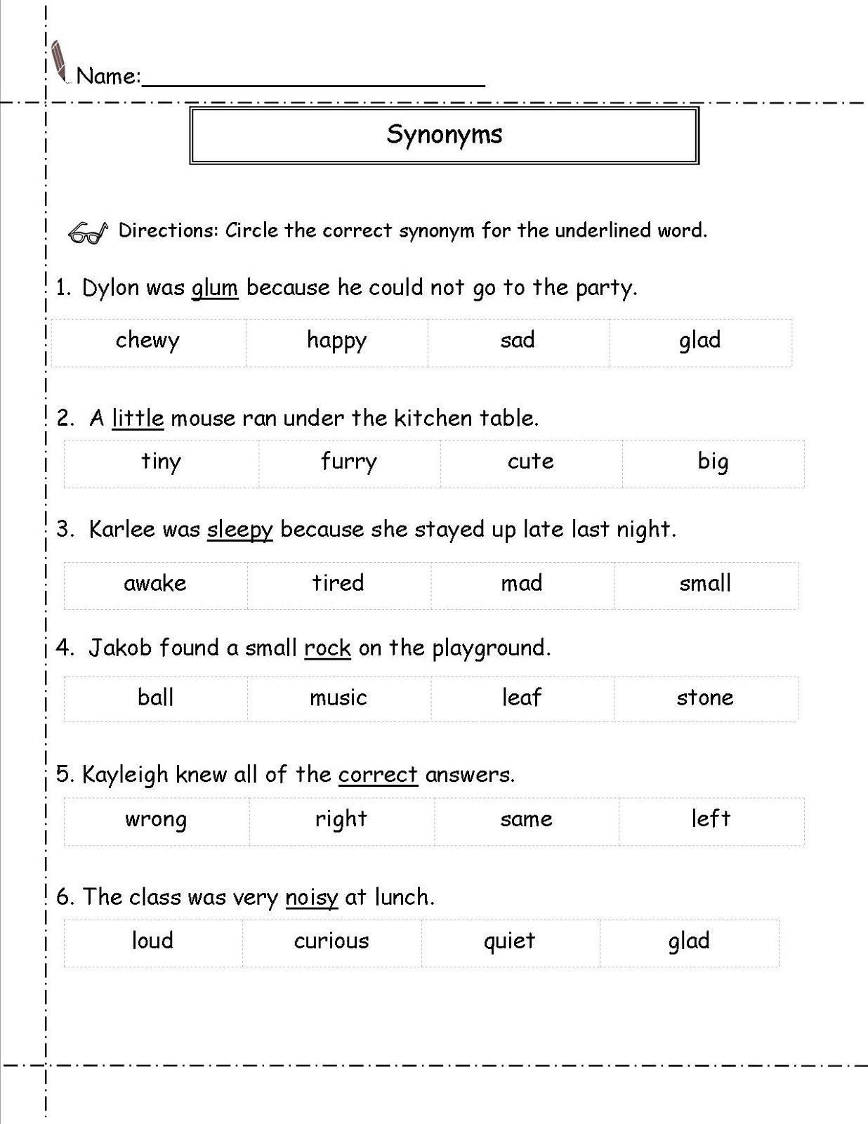 Vocabulary Worksheets For 2nd Graders 11 Best 2nd Grade