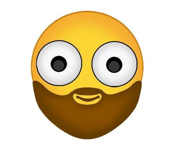 Bearded Emoji Emoji Funny Emoji Smiley Happy