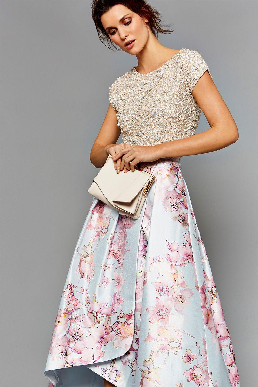 FELICITY EMBELLISHED TOP Mother of the bride skirts